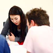 Lexis Korea students studying together