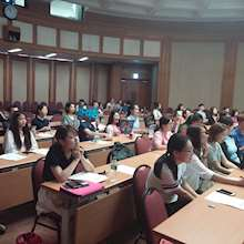 Universidad de Hanyang - estudiantes en clase