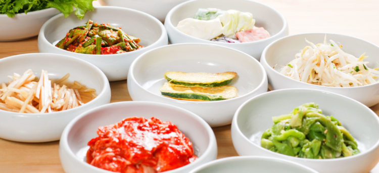 Korean restaurant food