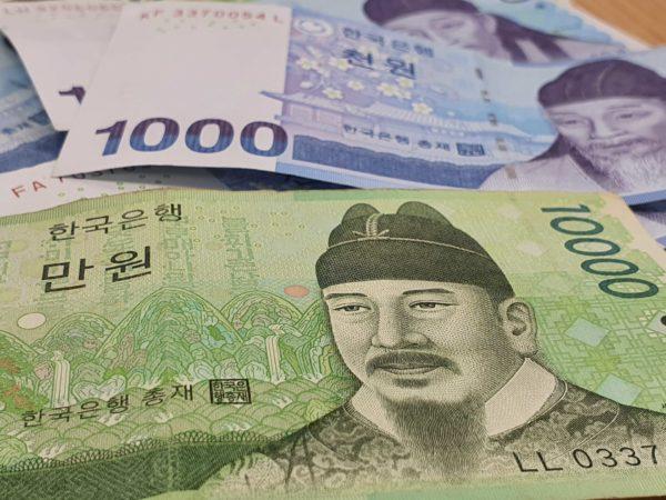 Monete e banconote coreane