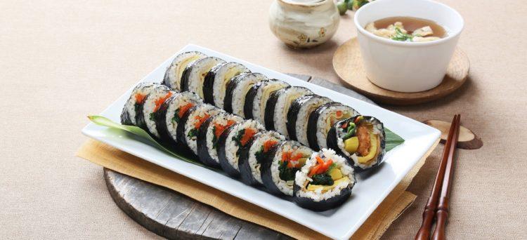 Piatti coreani non piccanti Kimbap