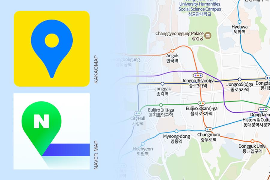 Korean navigation apps