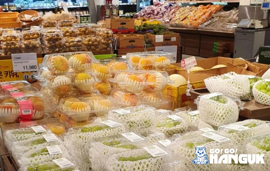Frutta del supermercato coreano