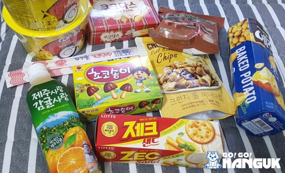Snack del supermercato in Corea