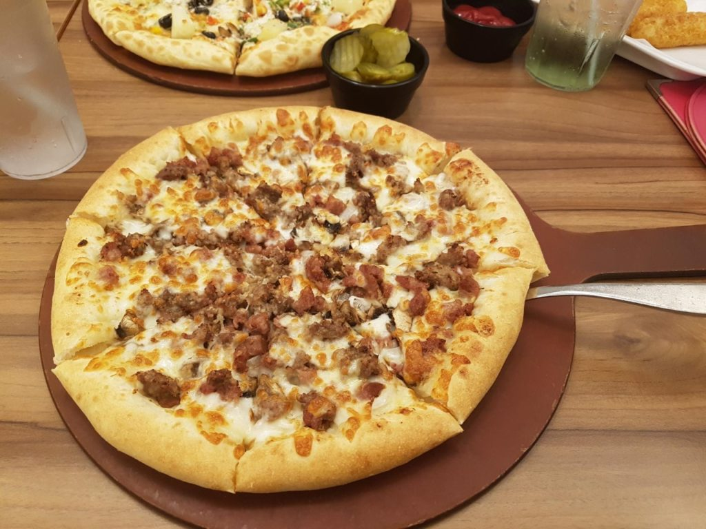 Pizza con bulgogi in Corea