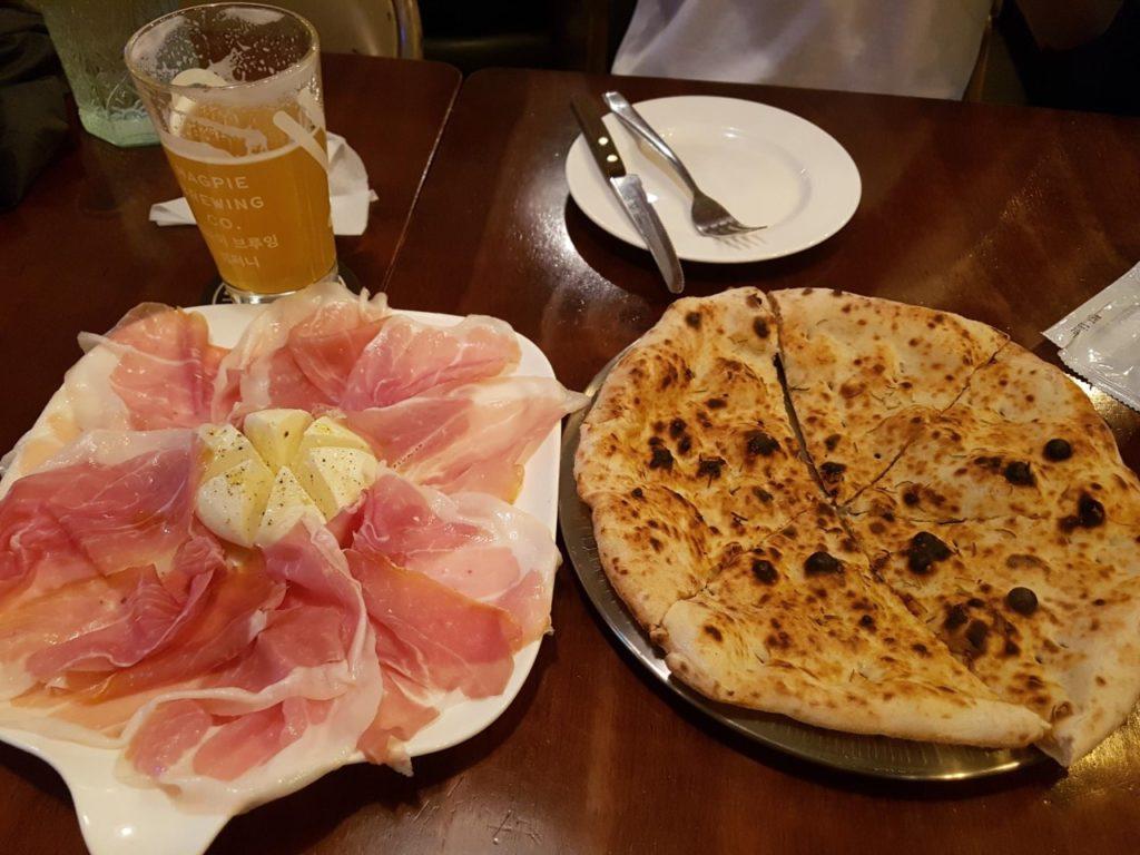 Pizza italiana in Corea